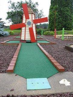 mini golf windmill